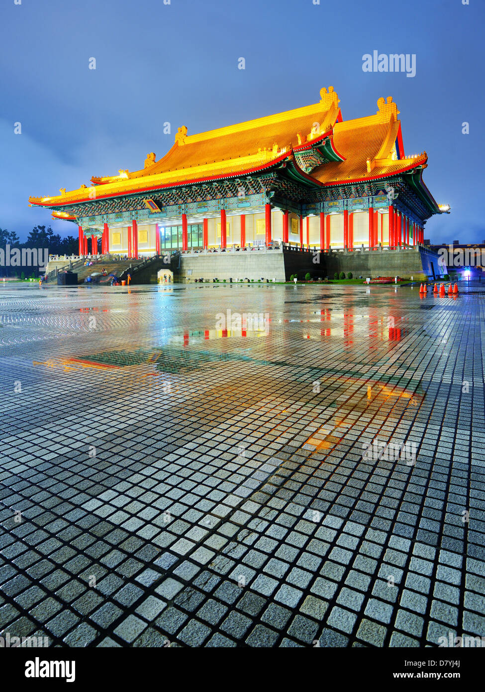 National Theater von Taiwan in Liberty Square, Taipei, Taiwan. Stockbild