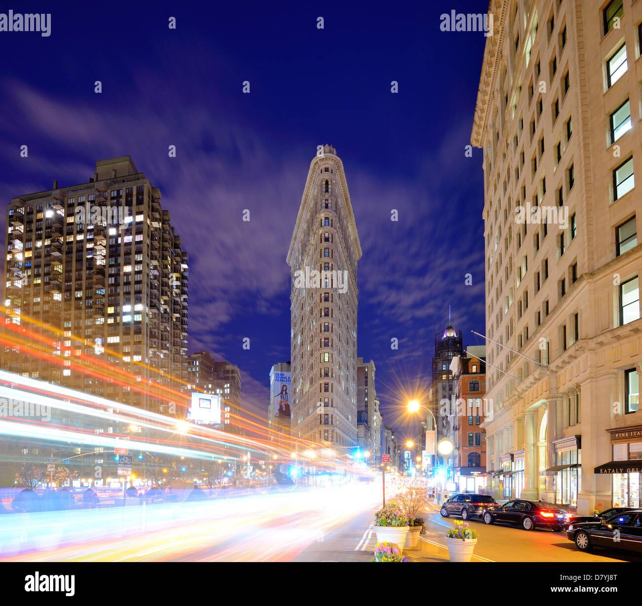 Flatiron District in New York City. Stockbild