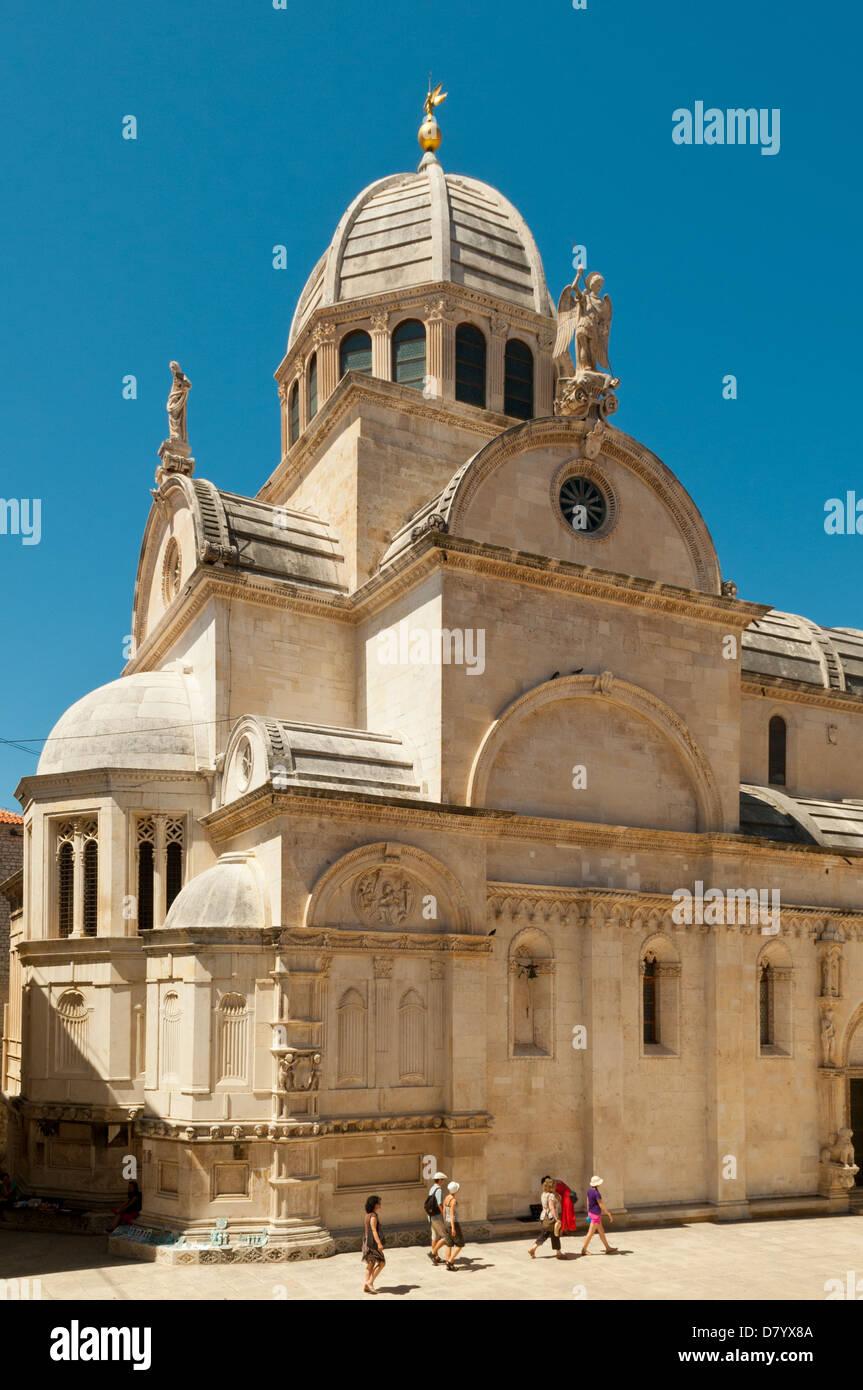 Kathedrale von St James, Sibenik, Kroatien Stockbild
