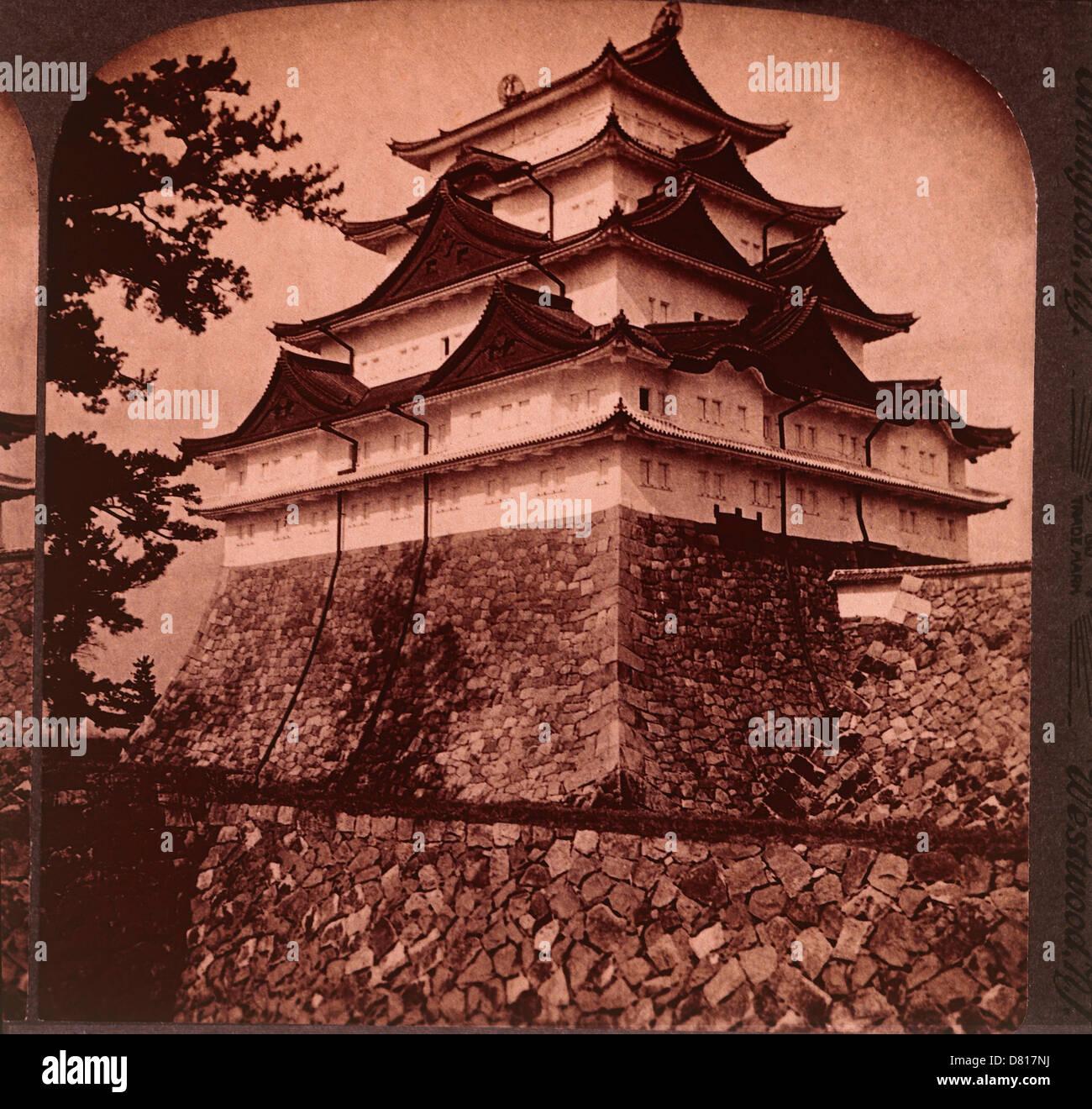 Mittelalterliche Königsschloss, Nagoya, Japan, ca. 1896 Stockbild