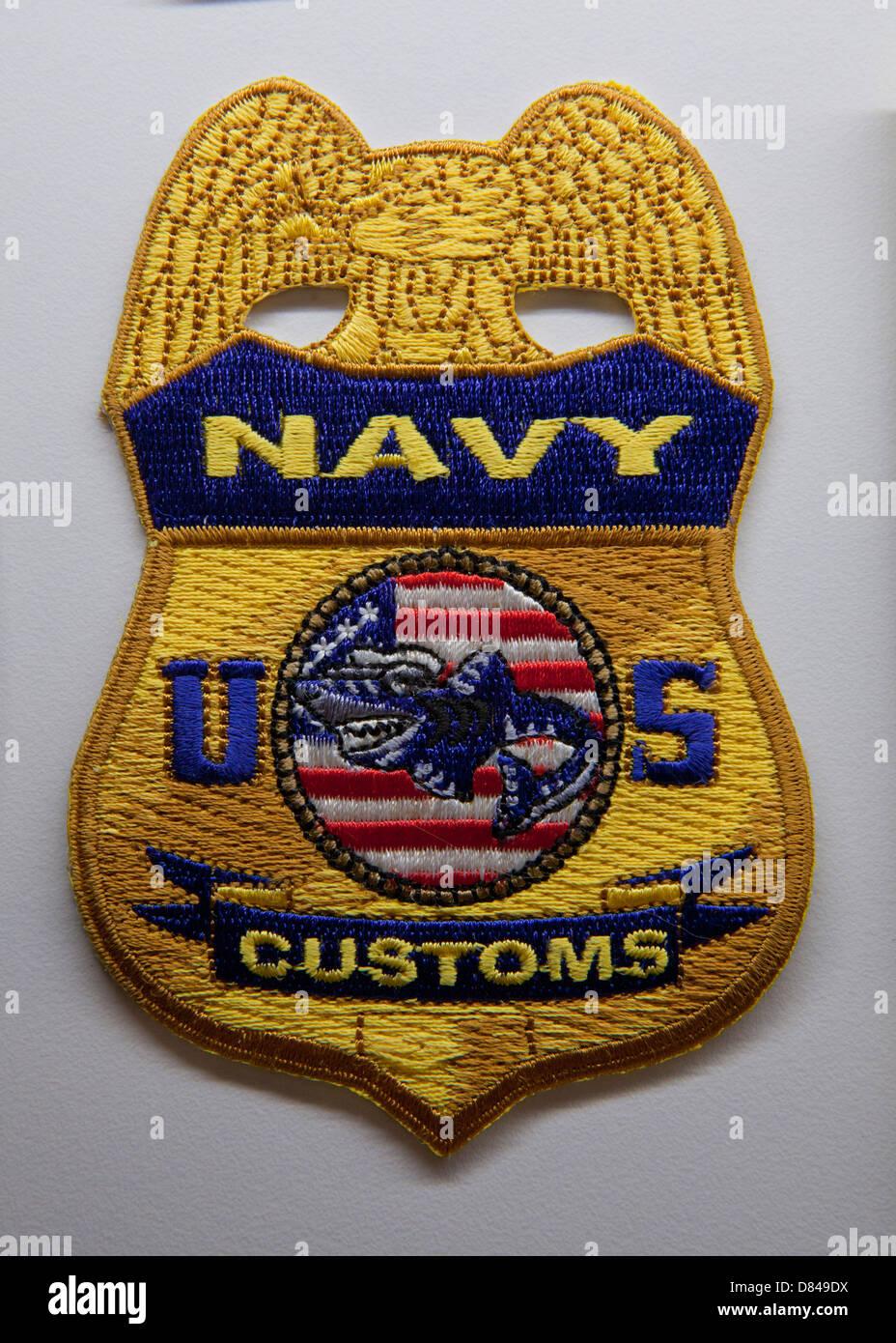 US Navy Zoll patch Stockbild