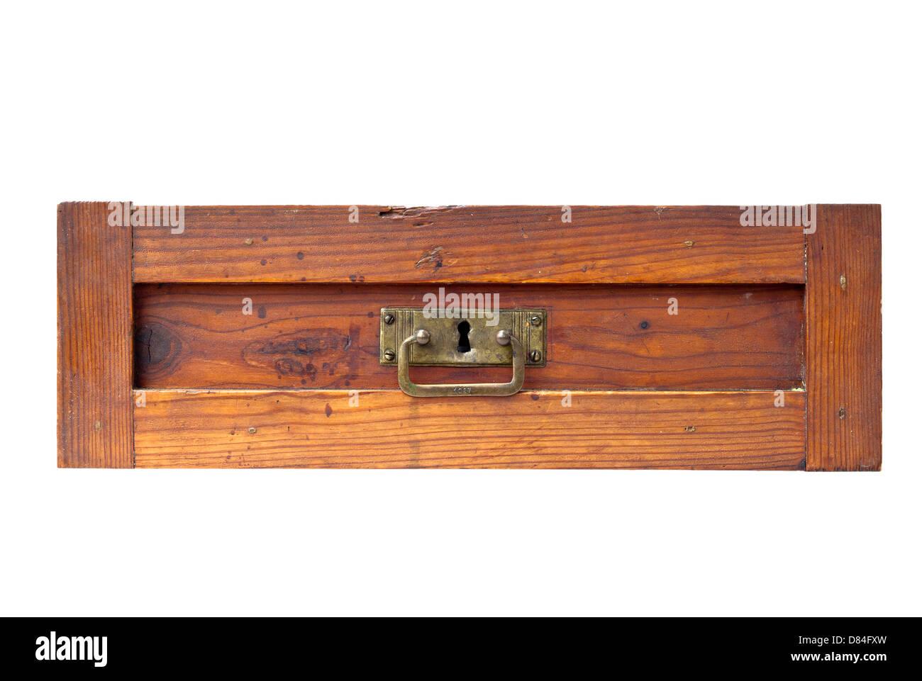 alte Schublade - Dämpfer Stockbild