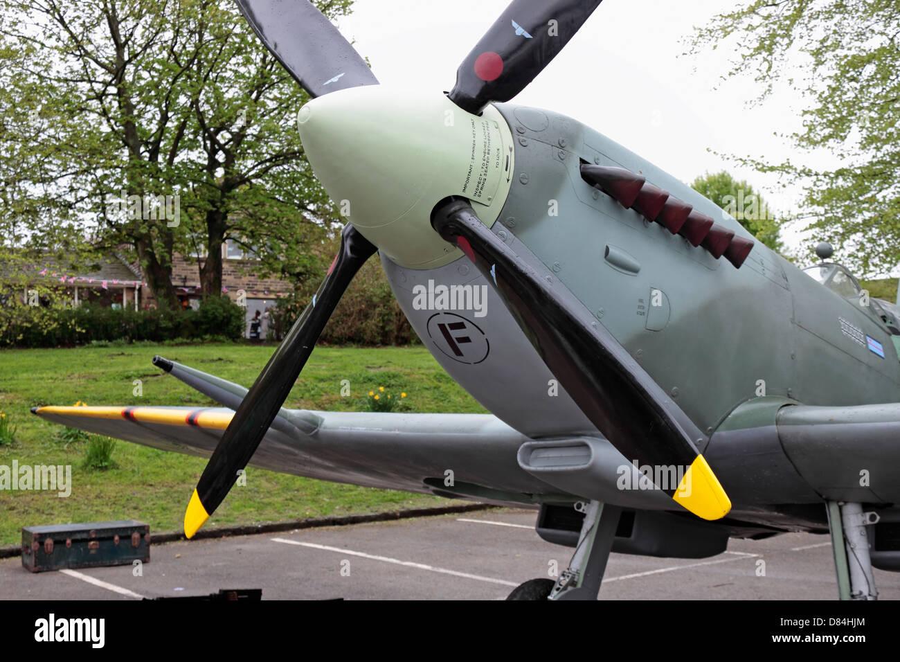 Haworth 40er Wochenende Spitfire anzeigen Stockbild