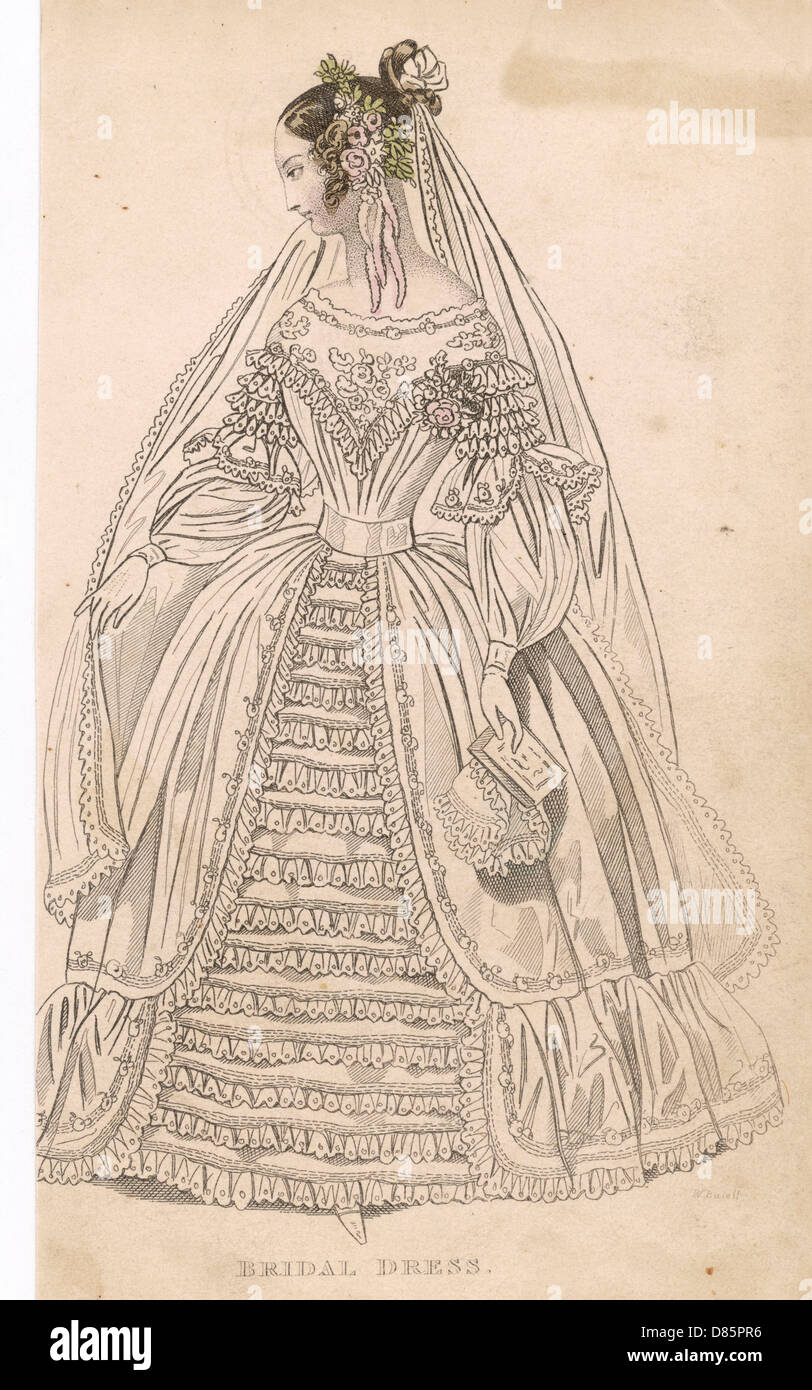 19. Jahrhundert-Hochzeitskleid Stockfoto, Bild: 56676010 - Alamy