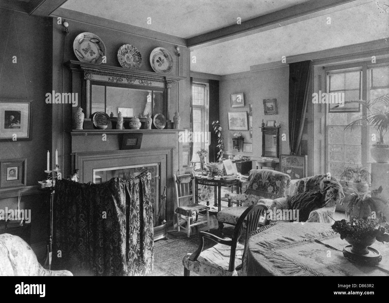 Victorian Drawing Room Stockfotos Victorian Drawing Room Bilder