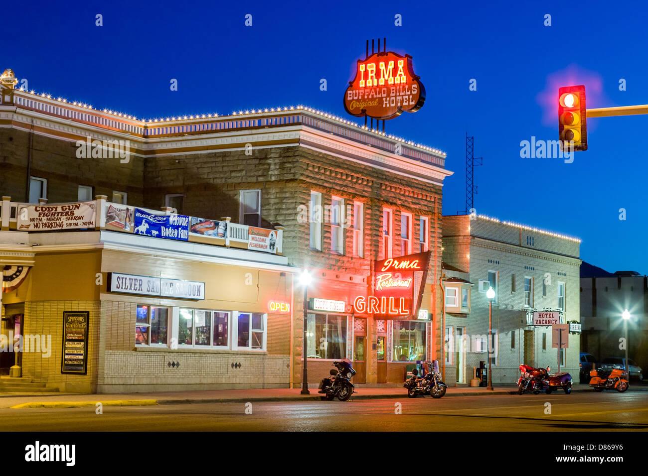 Irma Hotel, Cody, Wyoming Stockbild