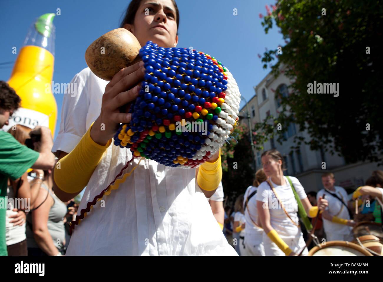 Berlin, Deutschland. 19. Mai 2013. Karneval der Kulturen - jährlichen Karneval und Straßenfest in Deutschlands Stockbild