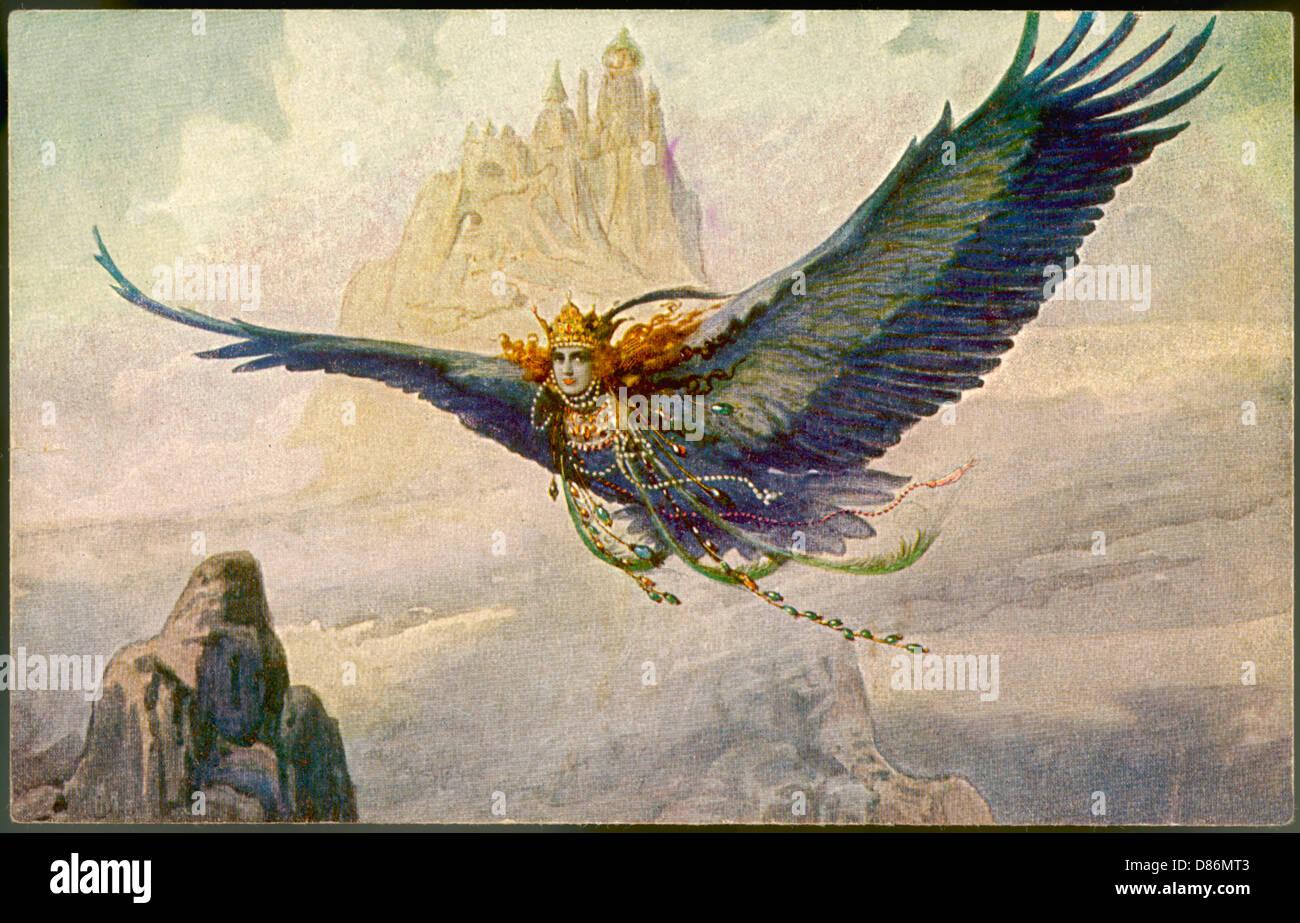 Folklore-Birdwoman Stockbild
