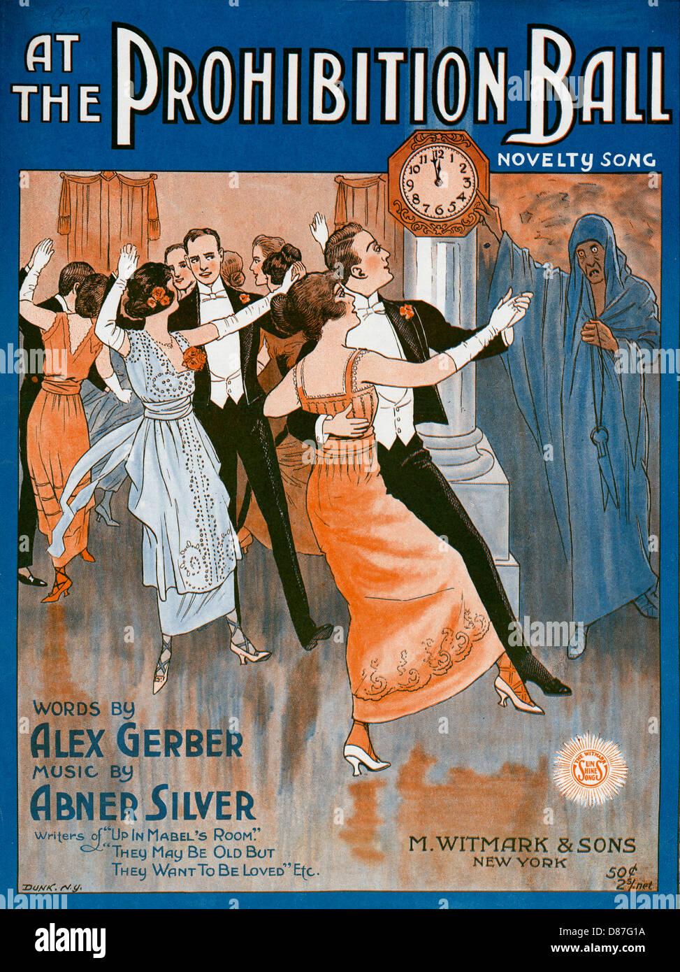 Verbot Ball 1918 Stockbild
