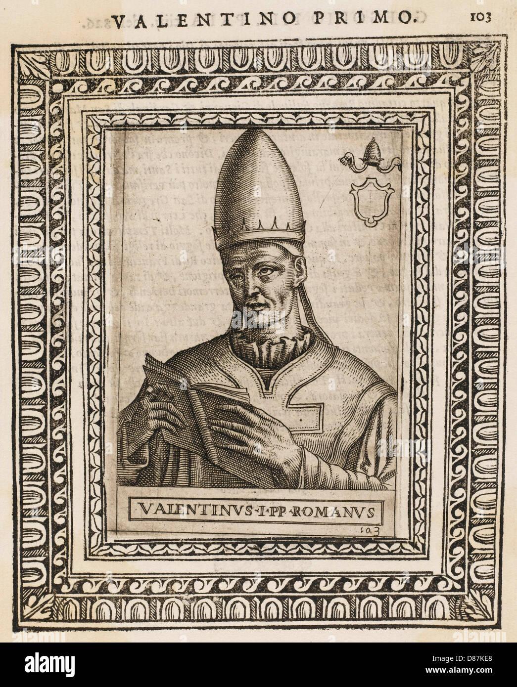 Papst Valentinus Stockbild