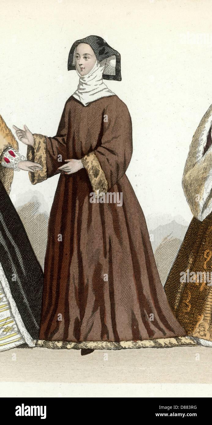 Lady von 1525 Stockbild