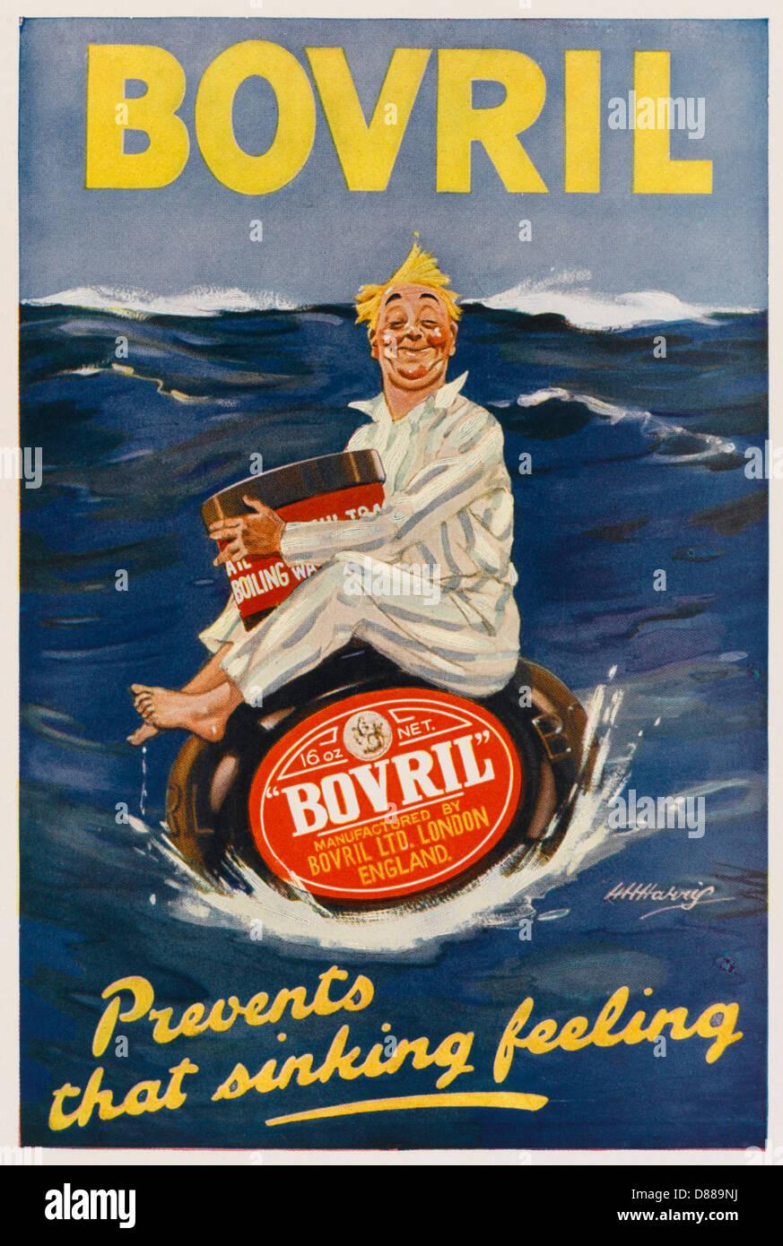 Bovril Sinking Feeling Stockbild