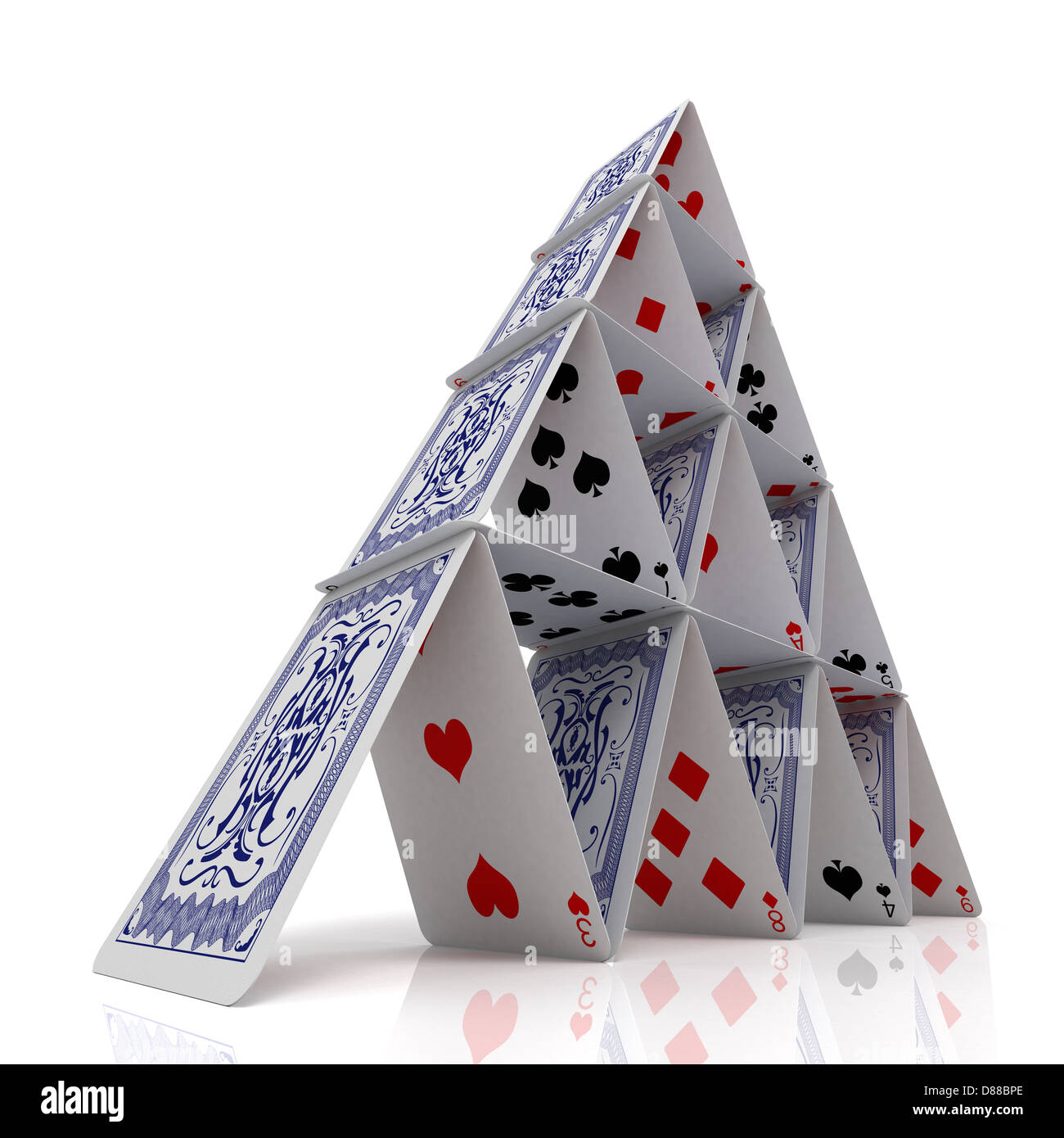 House Of cards Stockbild
