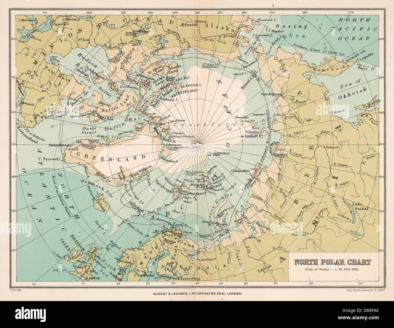 Polarkreis Alaska Karte.Map Of The Arctic Circle Stockfotos Map Of The Arctic Circle