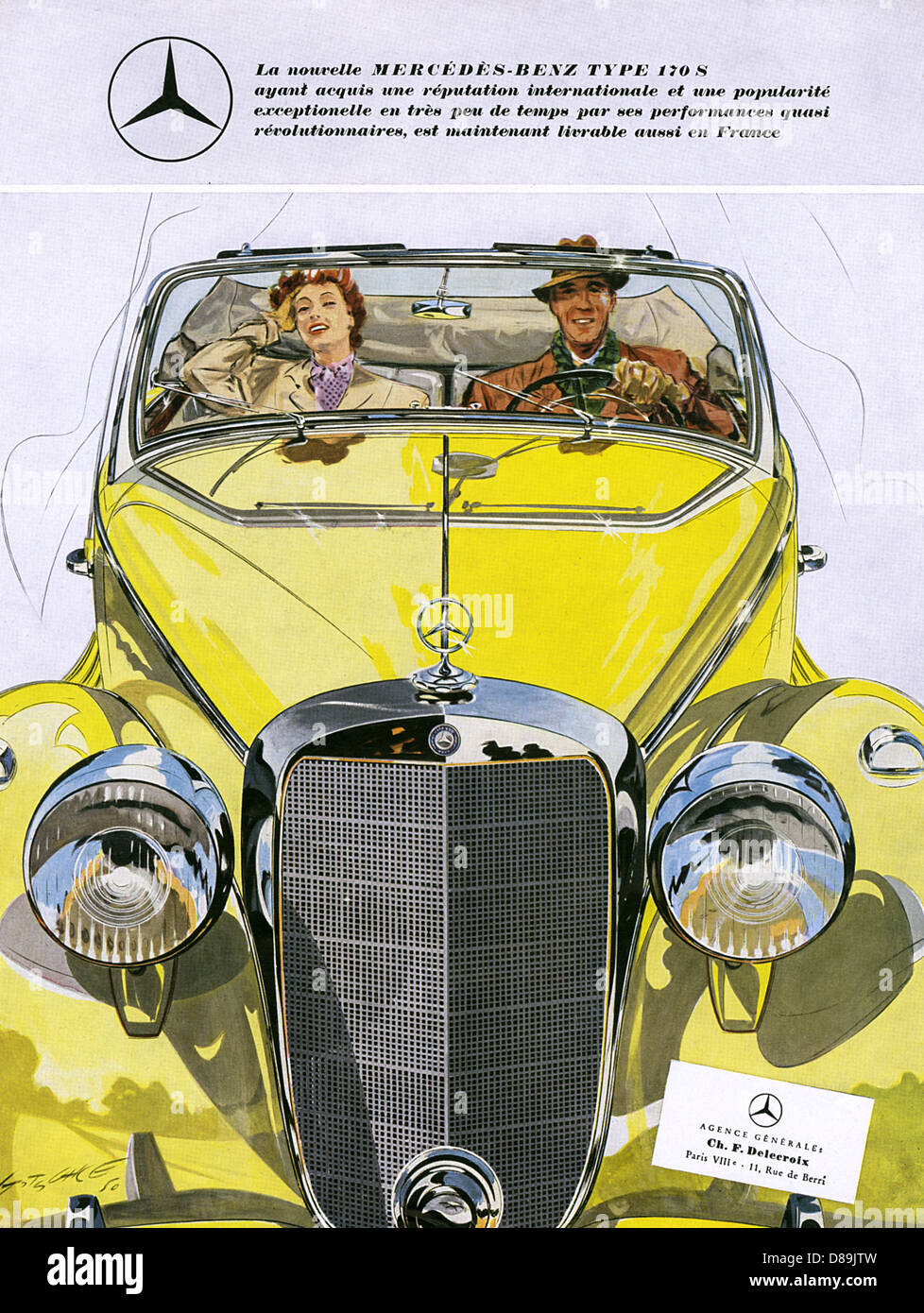 Mercedes-Benz 170 S Stockbild