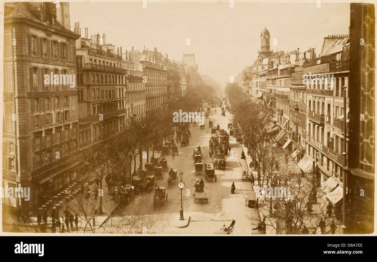 Paris-Boulevards Stockbild