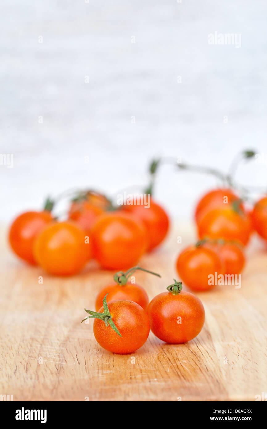 Mischtypen Erbe Tomaten in gestylte Aufnahmen. Stockbild