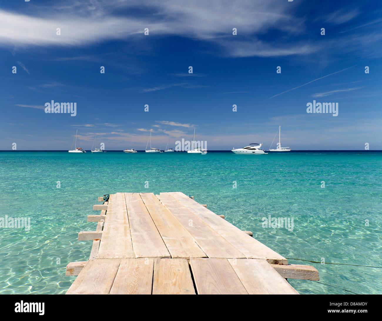playa de ses illetes formentera balearen spanien