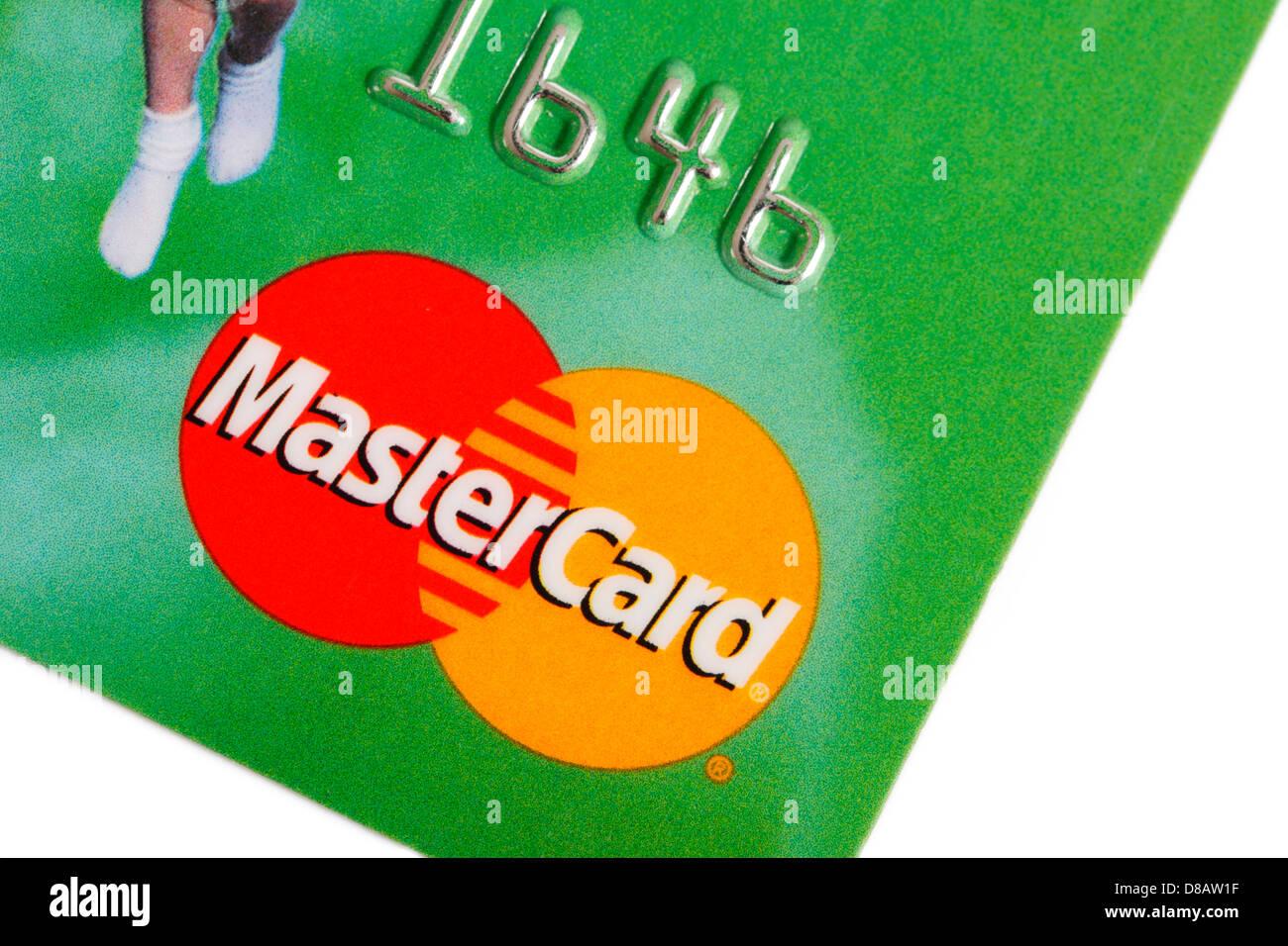 Master Card Kreditkarte Stockbild