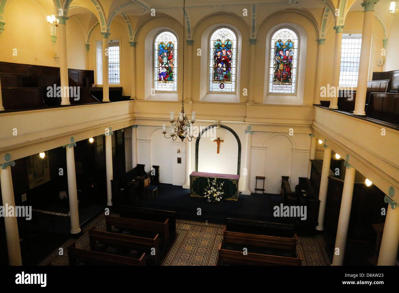 Southwark London England 18. Jahrhundert Kerls Kapelle Altar Stockbild