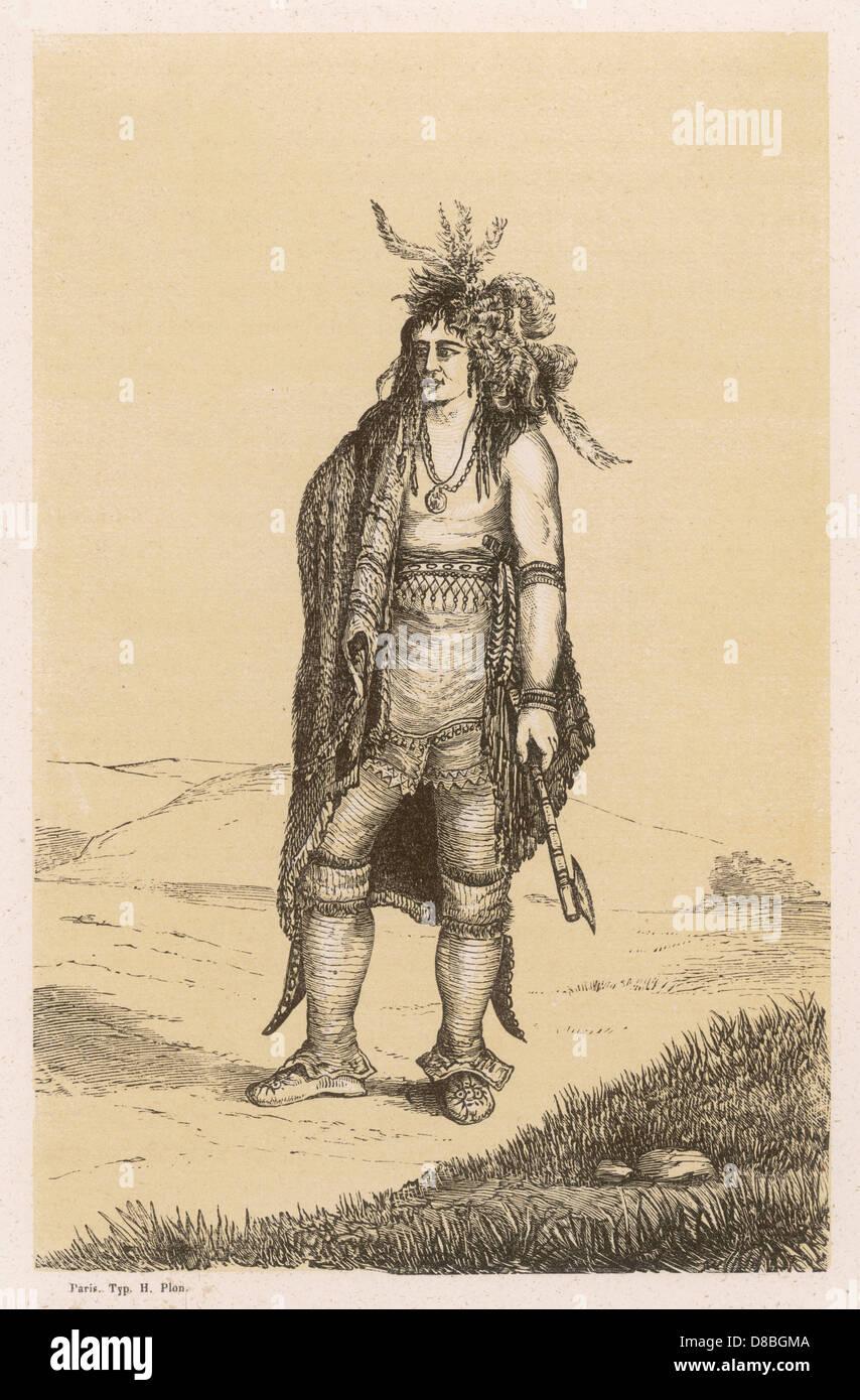 Irokesen Krieger Stockbild