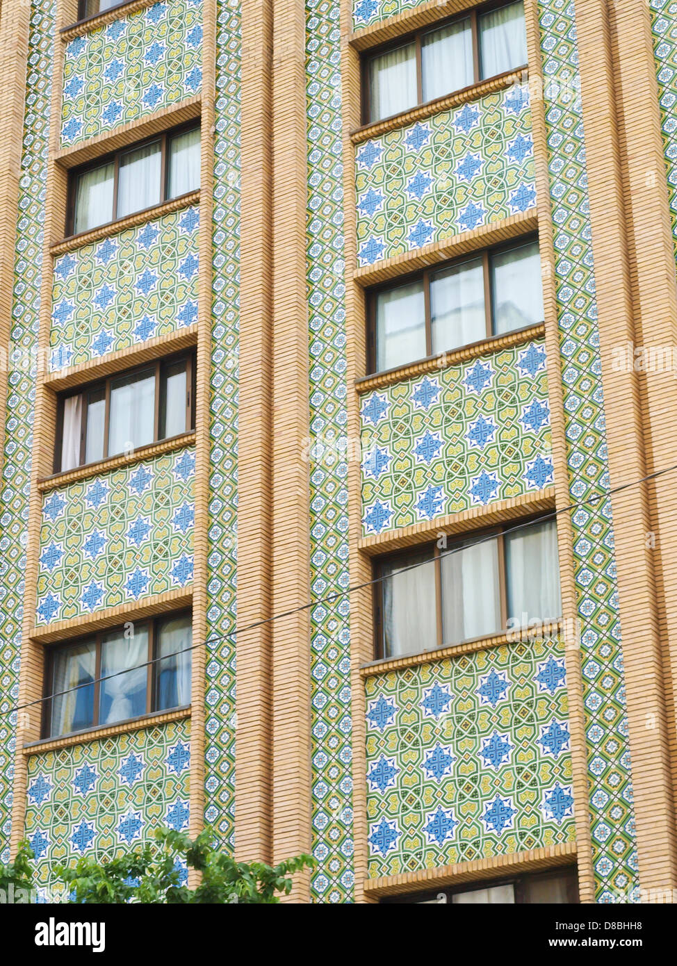 Mosaik Fliesen Dekoration Auf Den Aufbau Der Fassade In Teheran, Iran