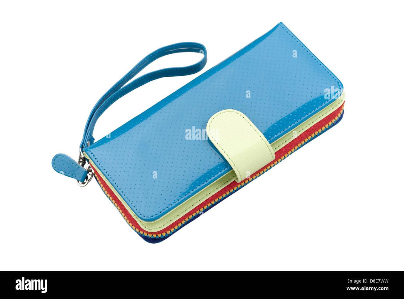 1db16ba3af04a Blaue Leder Geldbörse Stockfotos   Blaue Leder Geldbörse Bilder - Alamy