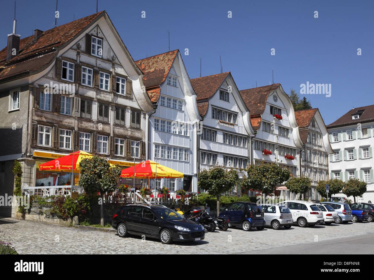 Schweiz, Appenzell Ausserrhoden, Gais; Haus, Schweiz, Appenzell Ausserrhoden, Gais; Haus Stockbild