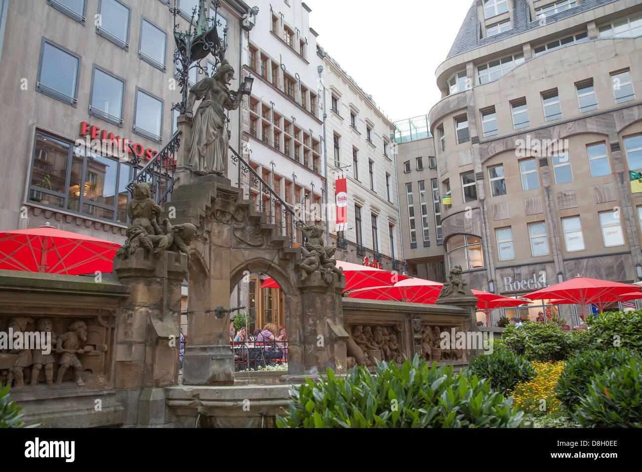 Heinzelmaennchen Brunnen Brunnen, Köln Stockbild