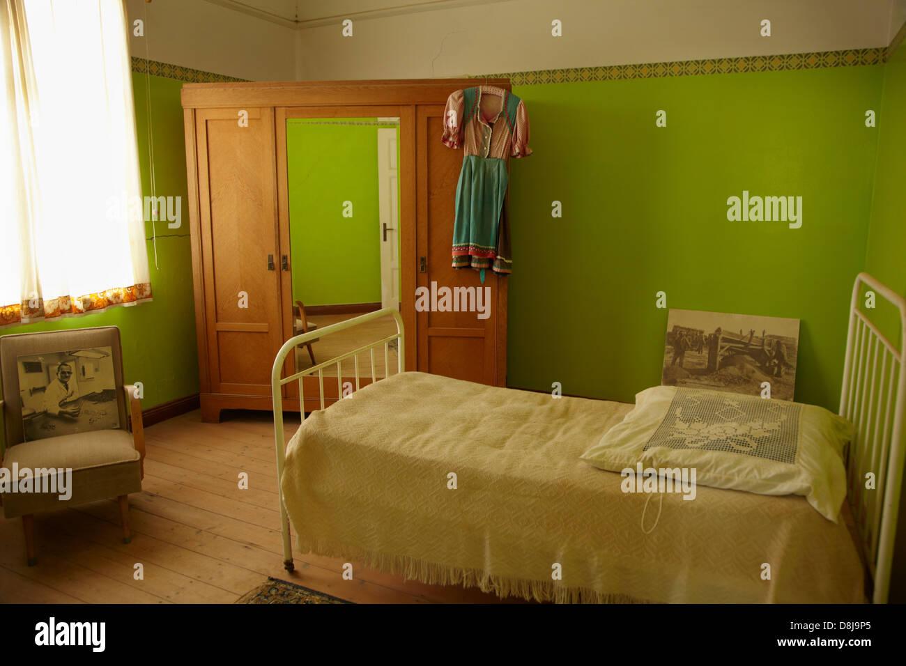 schlafzimmer, kolmanskop geisterstadt, in der nähe von lüderitz, Schlafzimmer entwurf