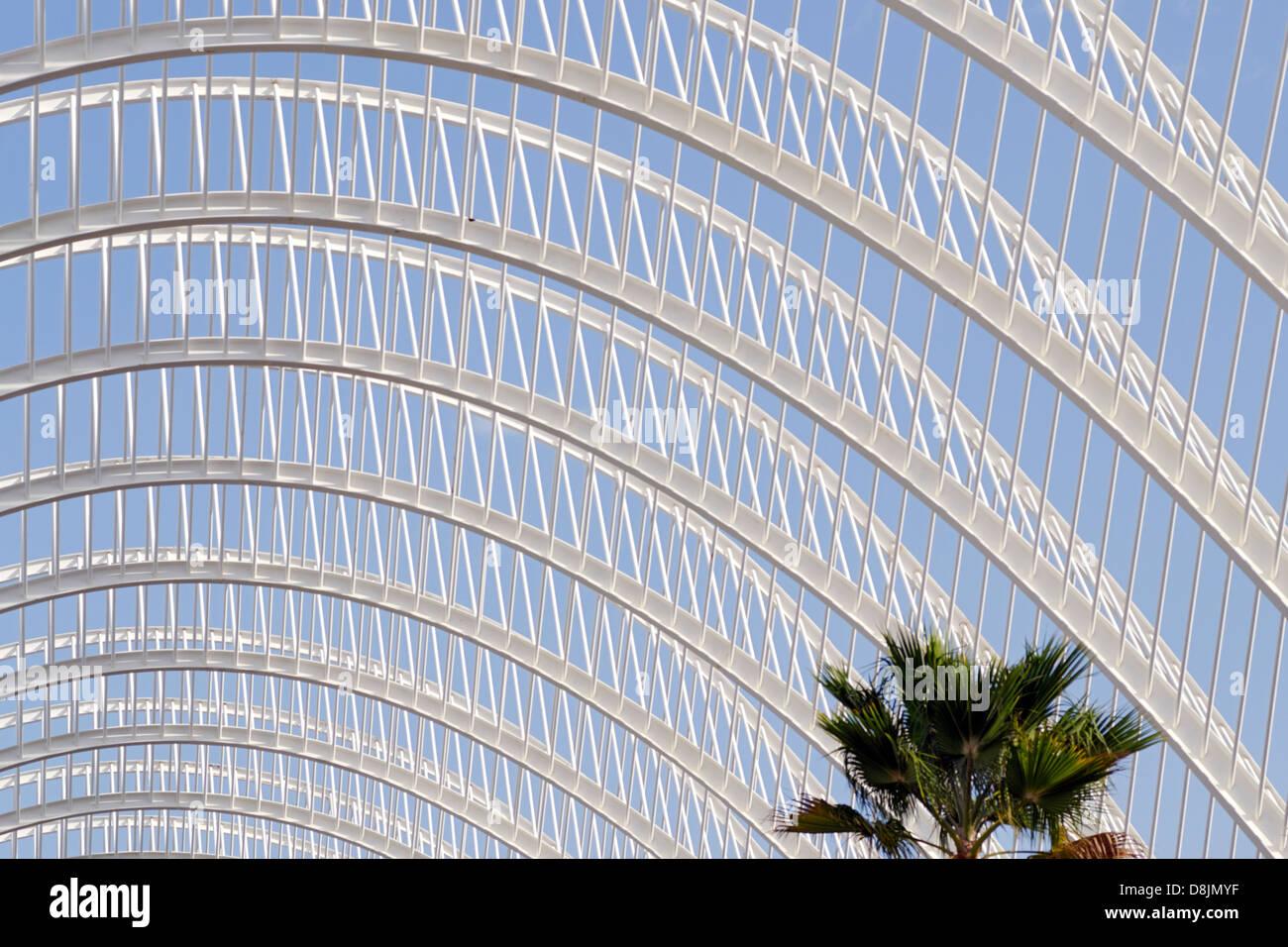 L'Umbracle, Stadt der Künste und Wissenschaften, Valencia, Spanien Stockbild