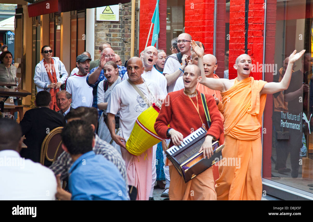 Hare Krishnas London UK Stockbild