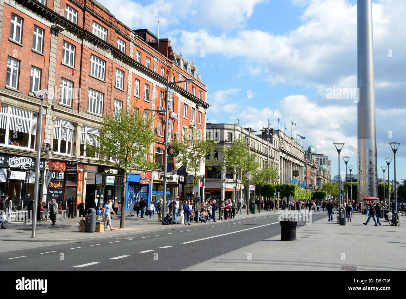 europa irland dublin stadt hauptstadt o 39 connell street stockfoto bild 56971438 alamy. Black Bedroom Furniture Sets. Home Design Ideas