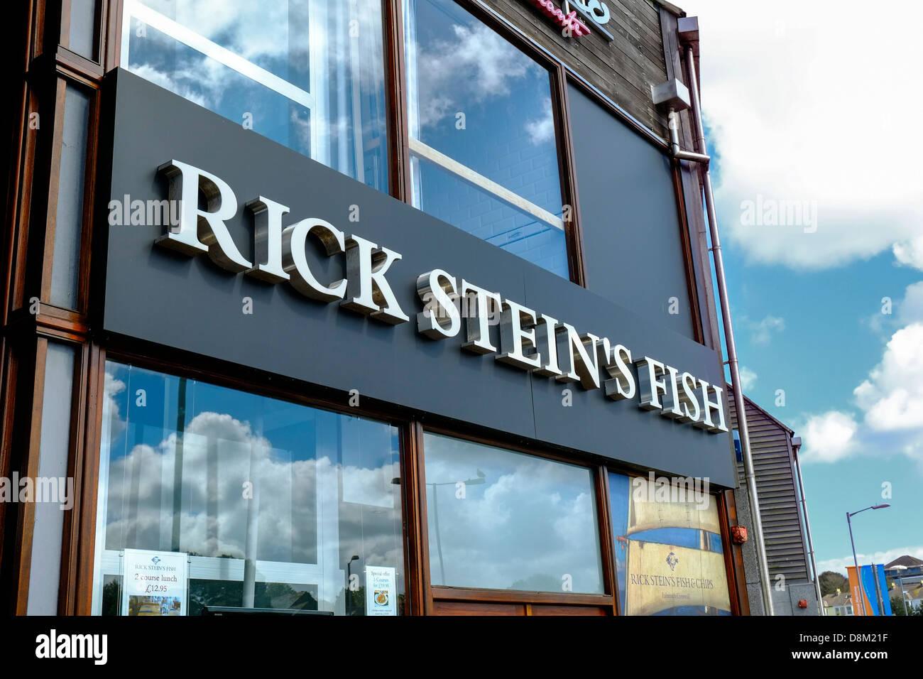 Rick Stein Fisch und Pommesbude in Falmouth. Stockbild