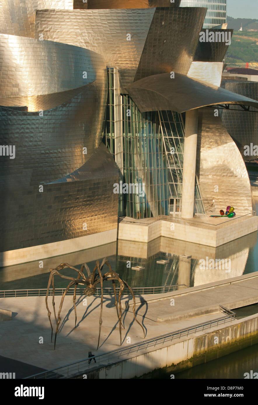Guggenheim Museum, Bilbao, Spanien, Architekt: Frank Gehry Stockfoto