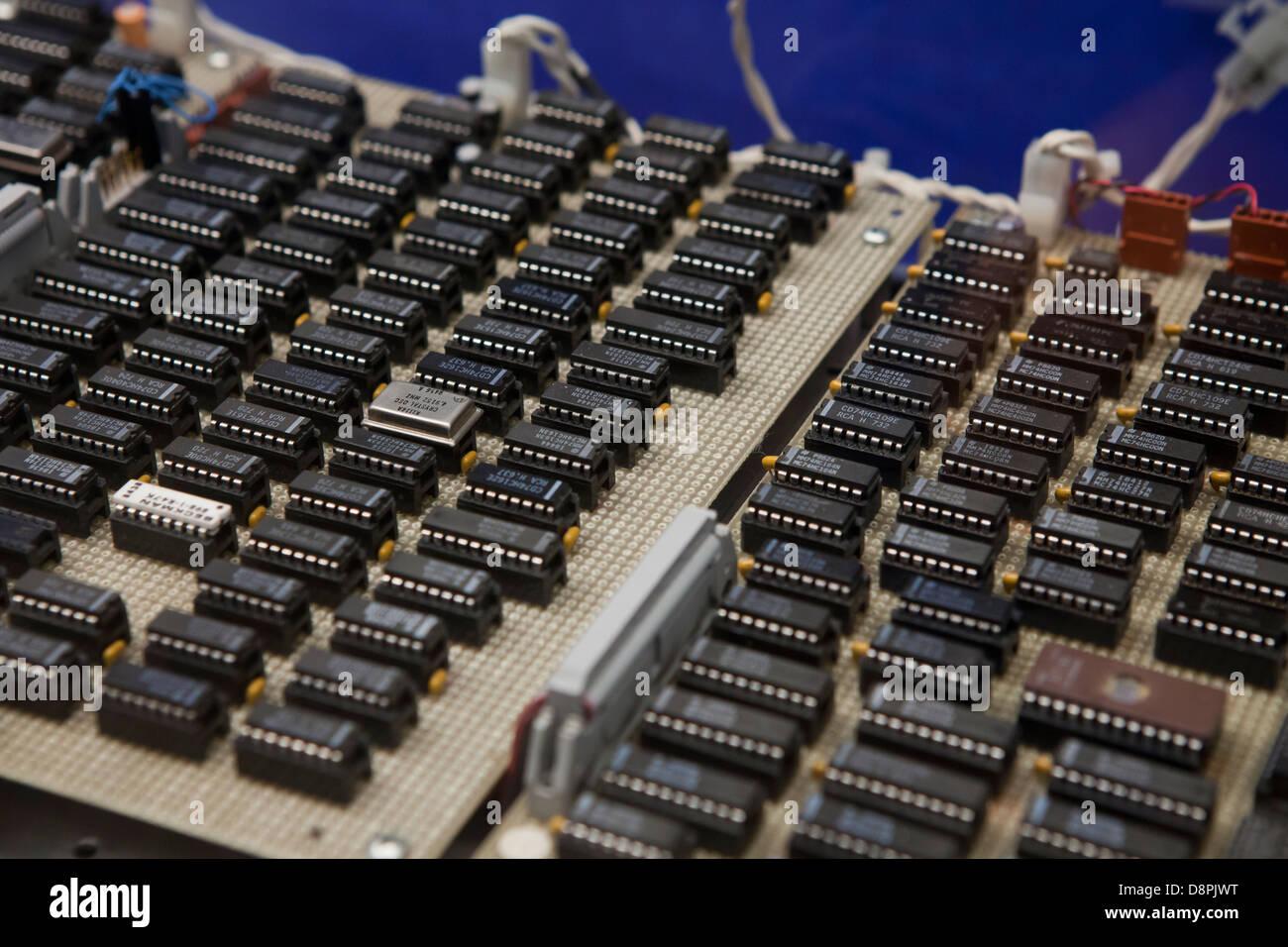 IC-Chips auf der Platine Stockbild