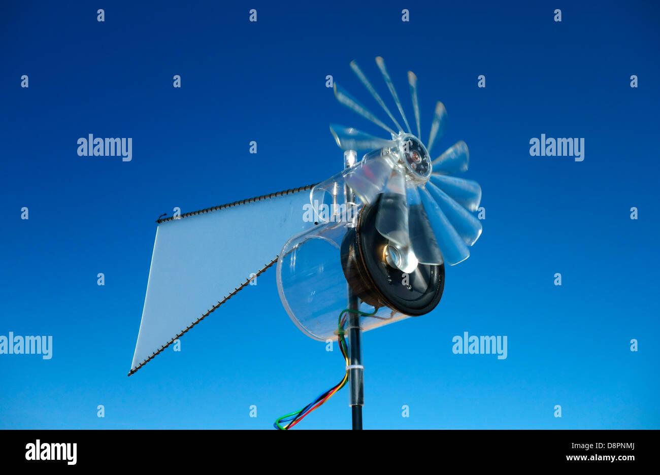 Ein Wind powered Lautsprecher schallen durch Windkraft zu schaffen Stockbild