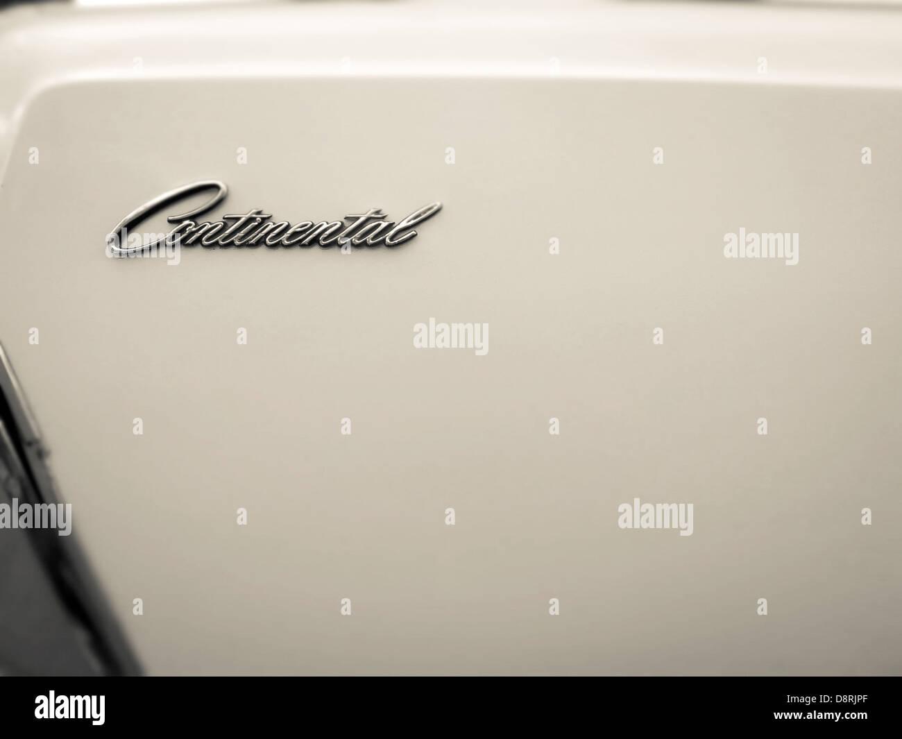 Klassische Lincoln Continental Abzeichen. Stockbild