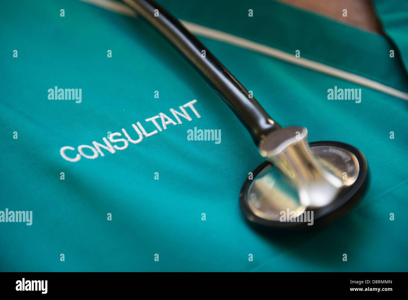 Berater in einem Krankenhaus. Stockbild