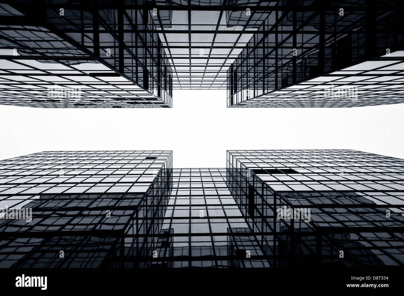 Glas Büro Wolkenkratzern, Hong Kong Stockbild