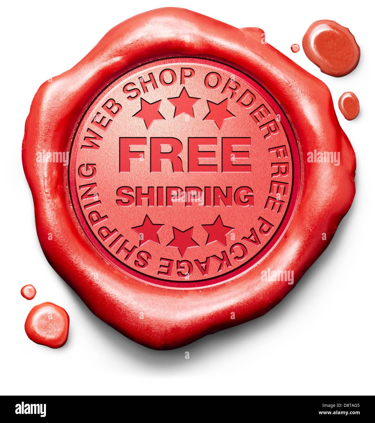 Kostenlose Versand Paketlieferung Von Online Bestellung Im Internet