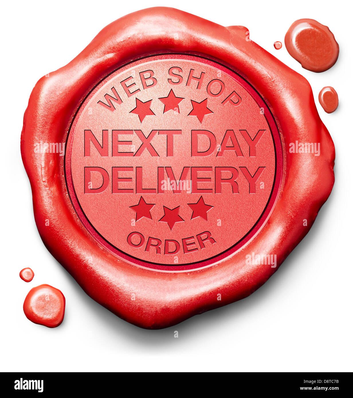 90dfda77cdd1da Lieferung am nächsten Tag von Online-Bestellung im Internet Web Shop schnell  Paketversand