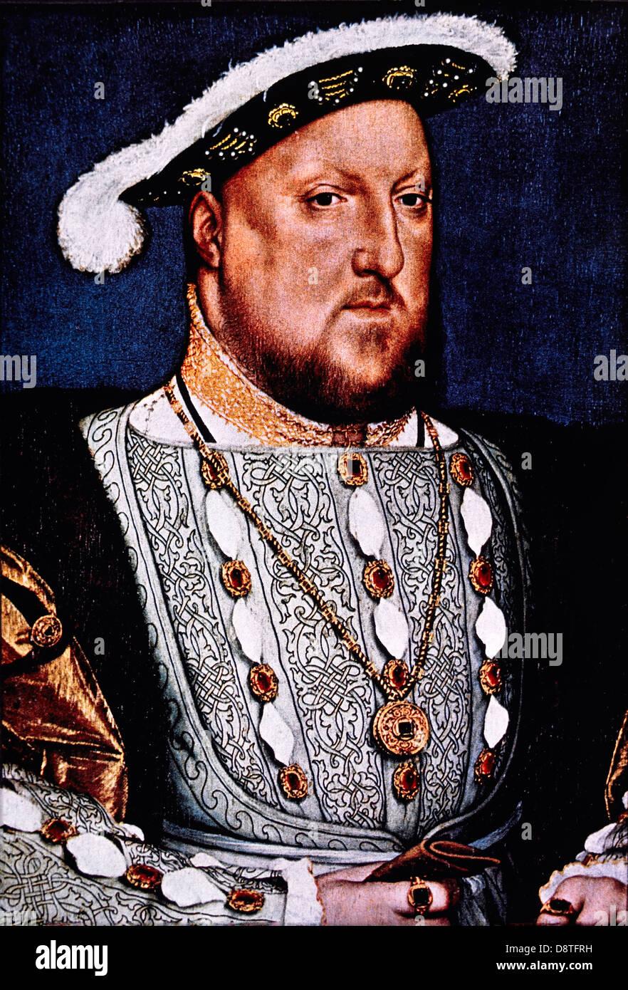 Henry VIII (1491-1547), König von England 1509-47, Porträt von Hans Holbein, 1536 Stockfoto