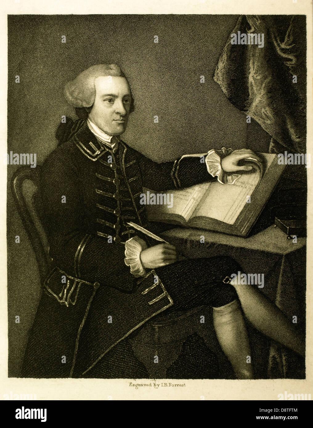 John Hancock (1737 ? 1793), politischer Führer während der amerikanischen Revolution, Unterzeichner der Stockbild