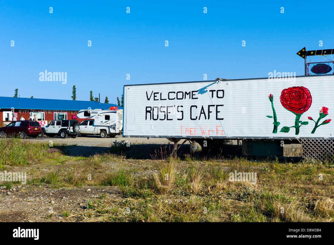 Rose es Cafe, Healy, Alaska, USA Stockbild