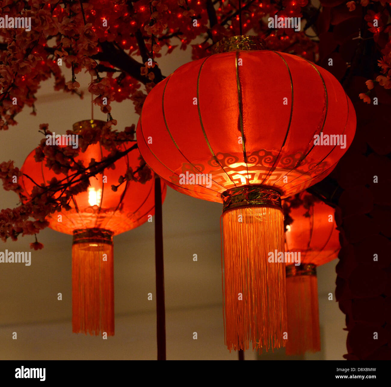 Rote Laterne chinesische Kultur Asiens Stockbild