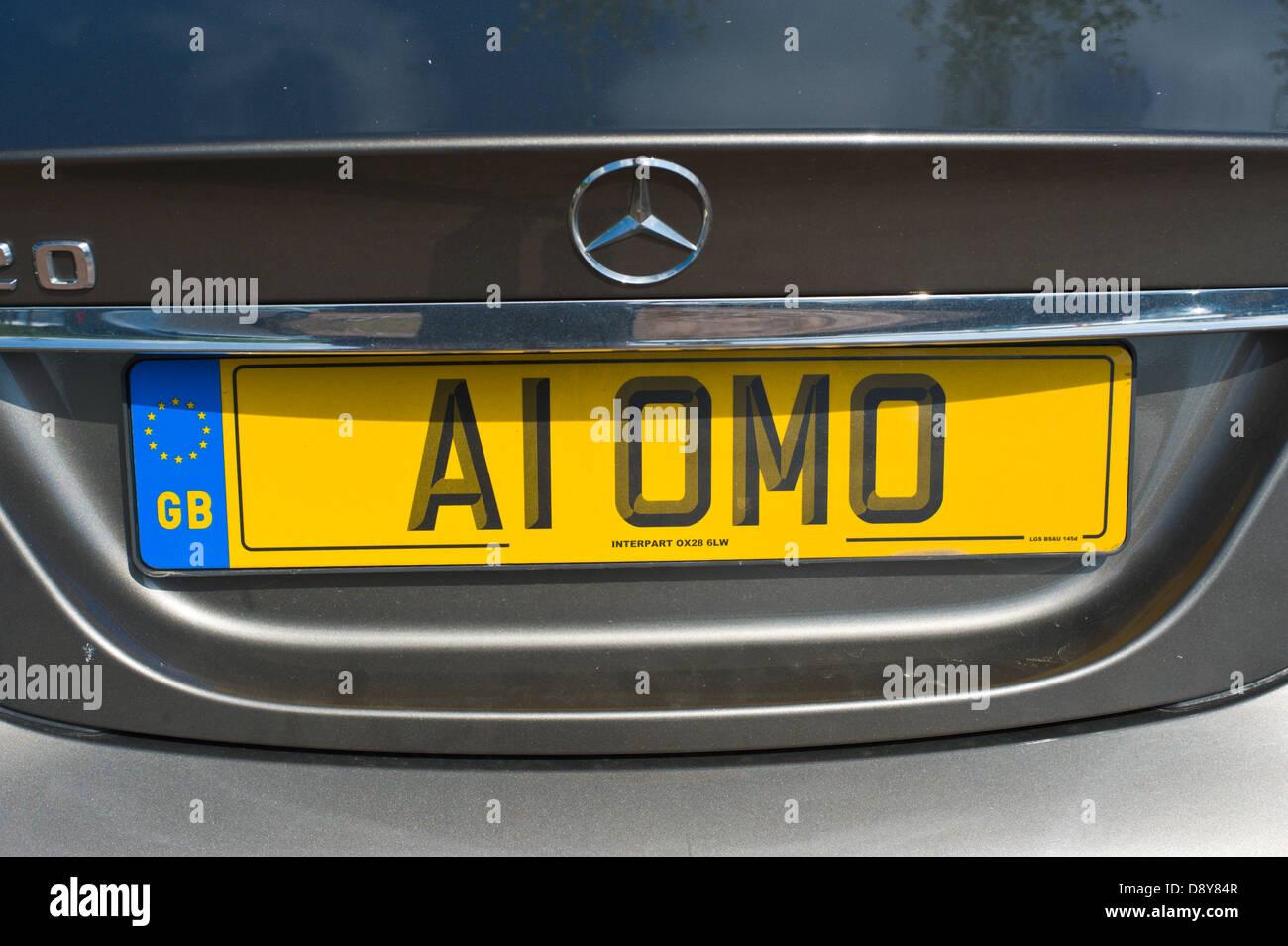 Personalised Plate Stockfotos & Personalised Plate Bilder - Alamy