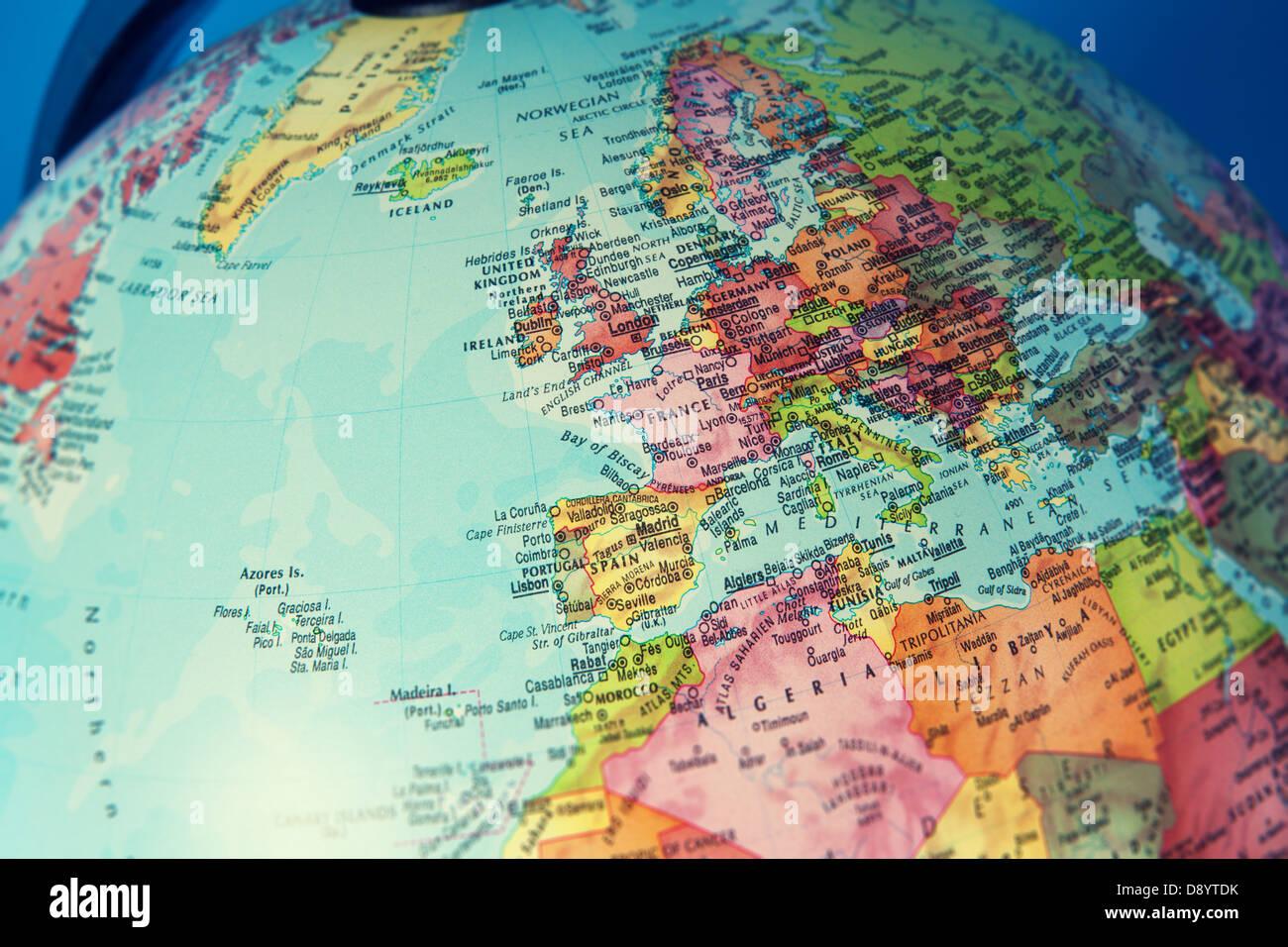 Mittelmeer Karte Europa.Mittelmeer Karte Stockfotos Mittelmeer Karte Bilder Alamy