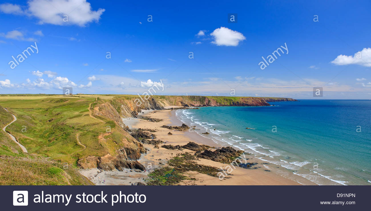Marloes St Brides Bay Pembrokeshire Wales Stockbild