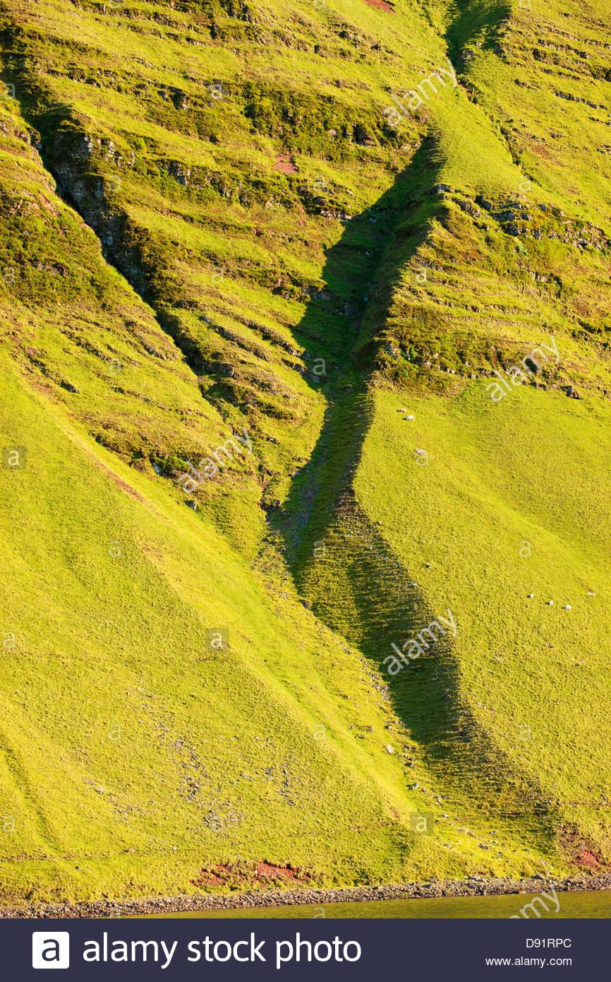 Llyn y Fan Fach Llanddeusant (Mynydd Y Du) Black Mountain Brecon Beacons National Park Carmarthenshire Wales Stockbild